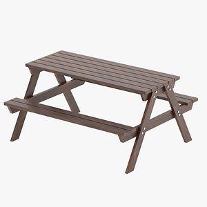 3D park table 01 model