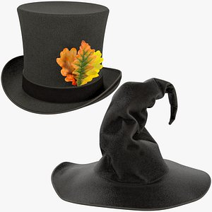 3D Halloween Hats Collection V8