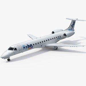 3D Embraer ERJ145 Regional Jet Flybe