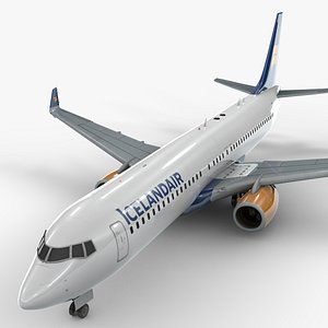3D boeing 737-8 icelandair