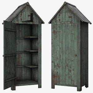 shed old wood 3D model