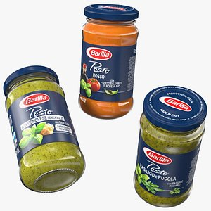Barilla Pesto Sauce 190 ml Set 3D model