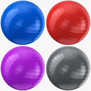 3D Exercise Yoga Balls Collection