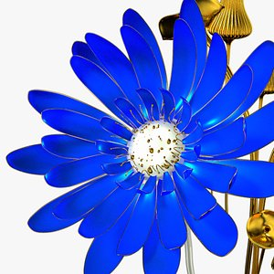 Blue Flower Animated 3D