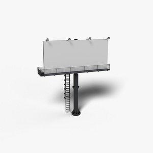 3D billboard modeled blender