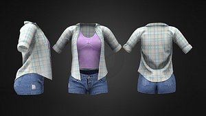 3D model Teen Outfit