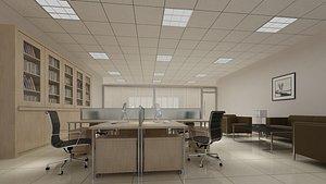 Office Interior 06 3D model