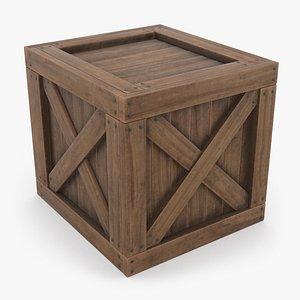 3D model Wooden Crate 01