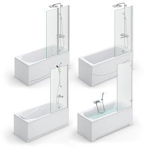 3D bath ravak set 117 model
