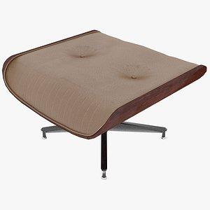 eames ottoman mahogany leather 3D