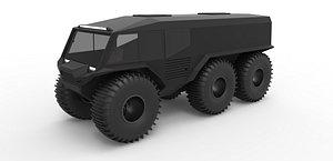 concept atv 6x6 3D model