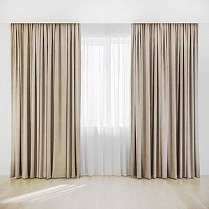 curtain fabric model