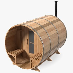 Red Cedar Barrel Sauna 3D model