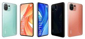 Xiaomi Mi 11 Lite All Colors 3D