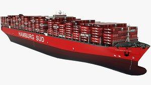 Container Ship Hamburg Sud Cap San August 3D model