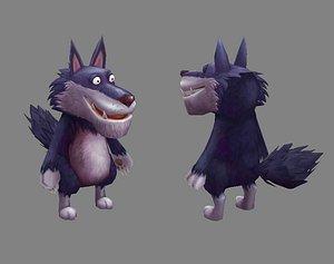 animal wolf mammal 3D