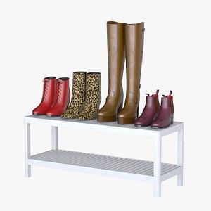 ladies boots shoes 3D model