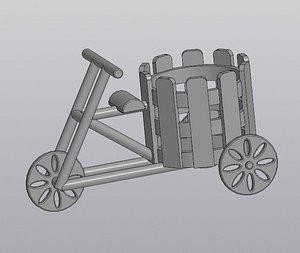 Flowerpot Bicycle 3D model