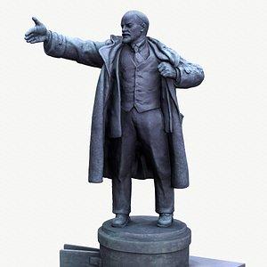 3D statue Lenin