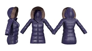 Ladies Padded Winter Coat 3D