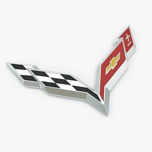 Corvette Badge 3D