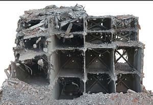 3D model Destroyed Building1
