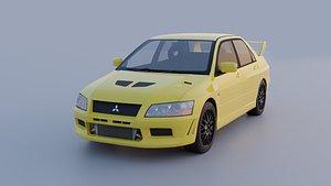 3D Mitsubishi Lancer Evolution 7