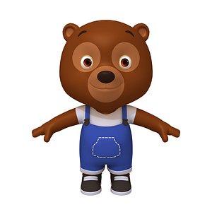 3D Bear Cartoon model