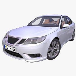 generic european sedan interior car 3D