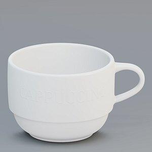 Free  cappuccino cup 3D model