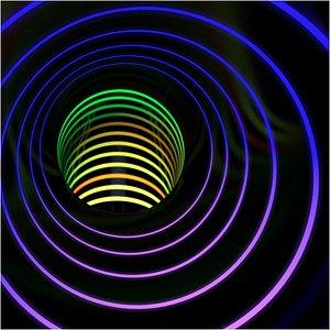 3D tunnel tube light animation model