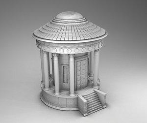 3D greek tower