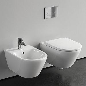 3D Duravit D-Neo Wall-Hung WC model