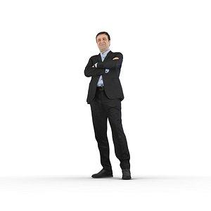 man suit standing 3D model