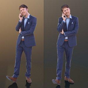 3D 10317 John - Walking Business Man Talking On The Phone model