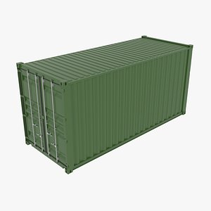shipping container iso 3D model