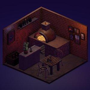 pizza place 3D model