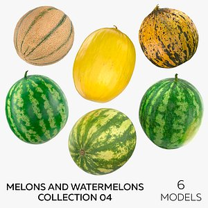 3D Melons and Watermelons Collection 04 - 6 models