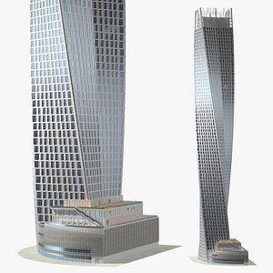 3D Twisted Skyscraper