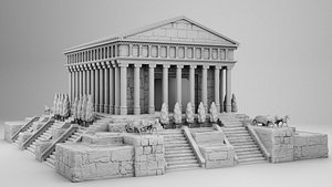 3D model greek ancient palace