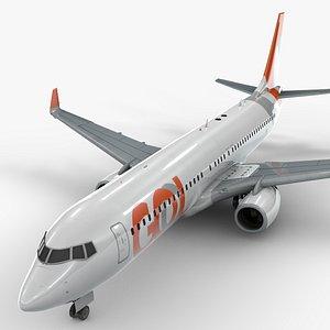 3D model boeing 737-8 gol linhas