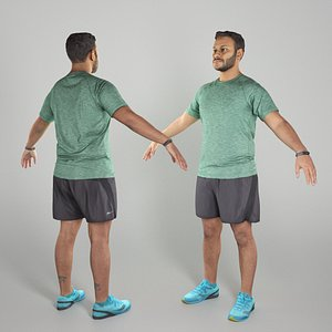 3D model Handsome man in sportswear ready for animation 294