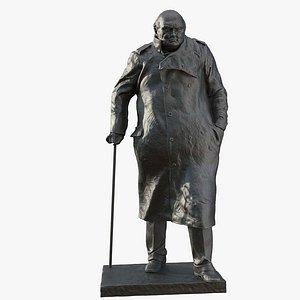 Winston Churchill Statue 3D model