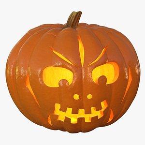 3D jack o lantern pumpkin