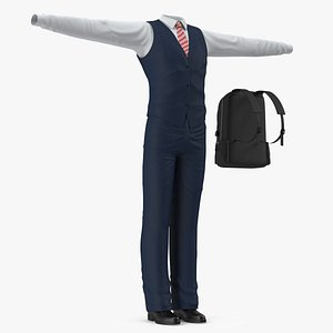 3D model school uniform set
