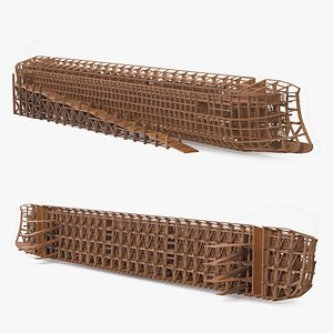Noah Ark Cross Section with transparency 3D model