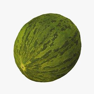 3D Santa Claus Melon - Extreme Definition 3D Scanned
