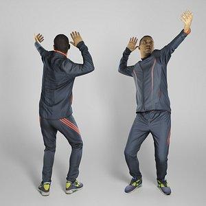 photogrammetry human sporty man 3D model