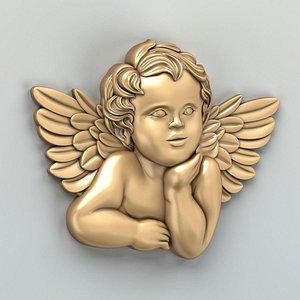 3D model cnc carved decor central