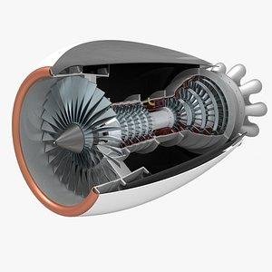 engine cad 3D model